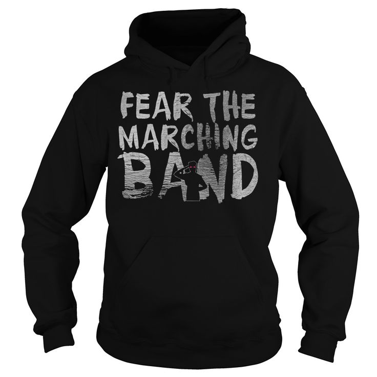 Fear the marching band zombie hoodie