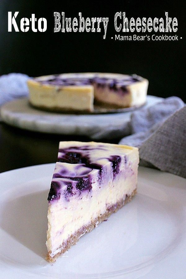 Bring on dessert heaven with this incredibly delicious Keto Blueberry Cheesecake…