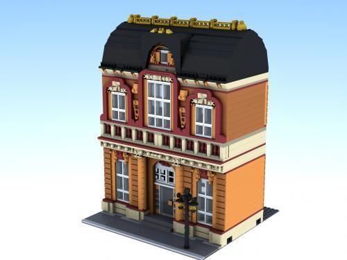 lego modular house | LEGO MOC-0506 Orange Building (Modular Buildings 2013) | Rebrickable ...