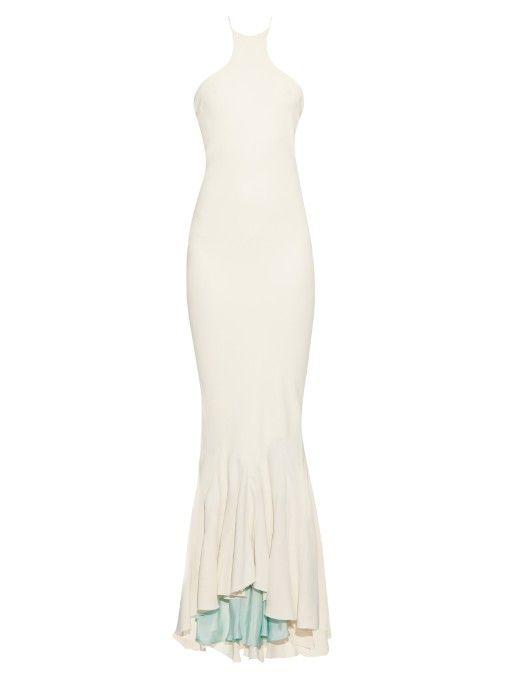HAIDER ACKERMANN Momu Cut-Out Silk-Crepe Gown. #haiderackermann #cloth #gown