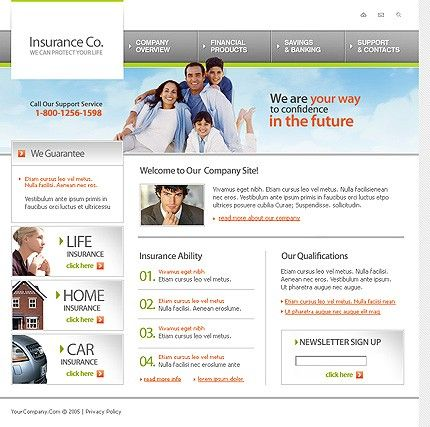 Insurance Agency SWiSH Templates by Lovely