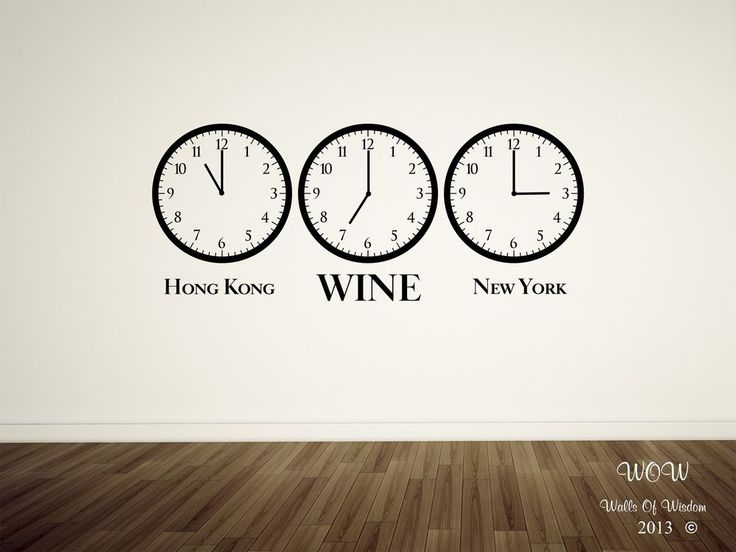 Funny Adult Time For Wine Wall Sticker/Wall Art Decal Home Decor
