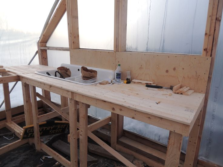 Greenhouse Potting Work Bench With Sink