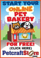 Start your online dog bakery today! You get marketing support so you will be found on the internet and not lost among everyone else's chatter!
