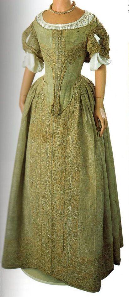 The Silver Tissue Dress, Museum of Fashion, Bath. c1660.