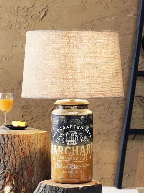86c7ababe Buy FABULIV Mustard Yellow  amp  Black Printed Handcrafted Table Top Lamp  With Shade - Lamps