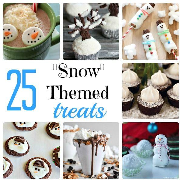 25 Snow Themed Treats | Something Swanky #snow #treats