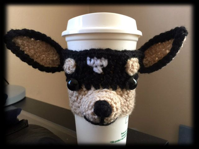 Slip this adorable Chihuahua on a cup and show this doggie some love. Custom cup…