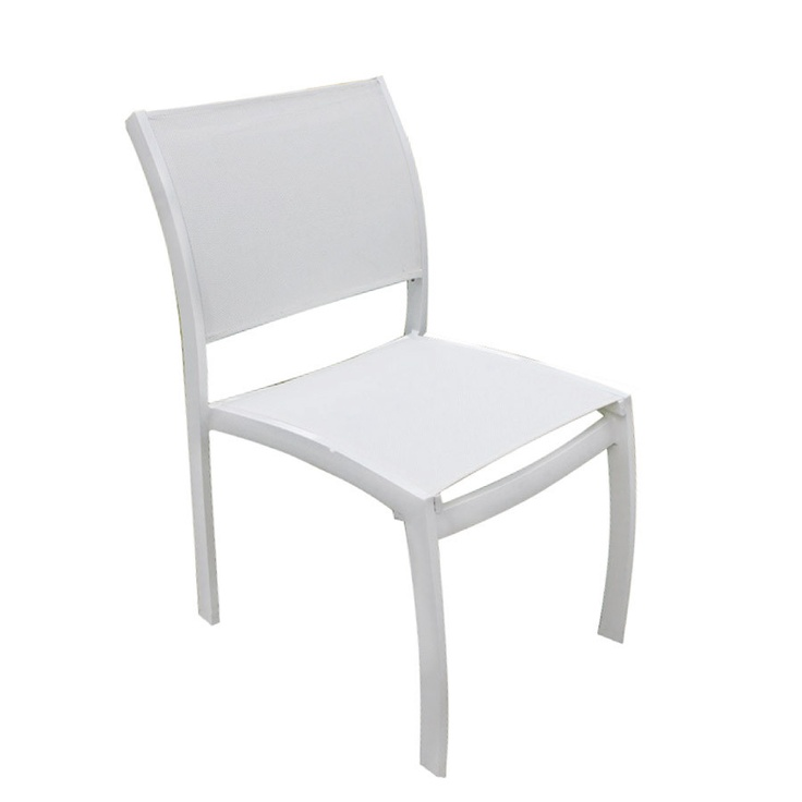 Metro III Pewter Side Chair With White Mesh   Quick Ship
