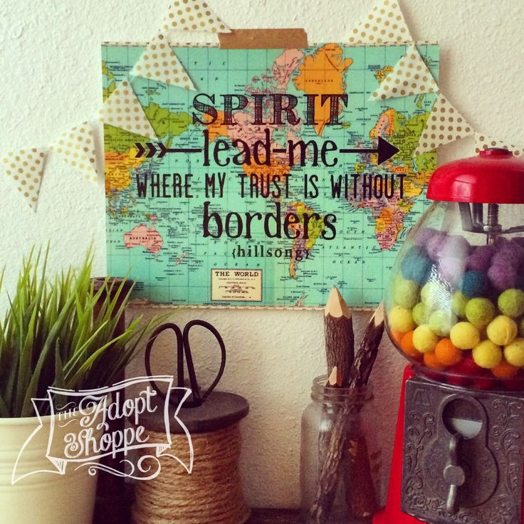 Hillsong Oceans Spirit lead me where my trust is without borders vintage map print by The Adopt Shoppe. #TheAdoptShoppe #hillsong #oceans