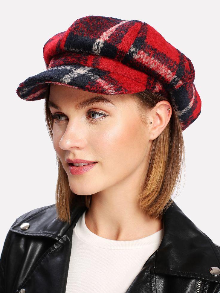 Shop Wool Blend Plaid Newsboy Hat online. SheIn offers Wool Blend Plaid Newsboy Hat & more to fit your fashionable needs.