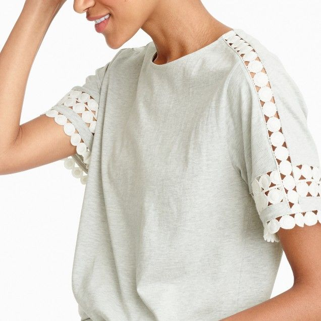 Lace embroidered top J. Crew