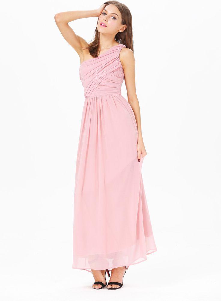 Vestido estilo griego color rosa palo talla 36 s 38 m - Color rosa palo ...
