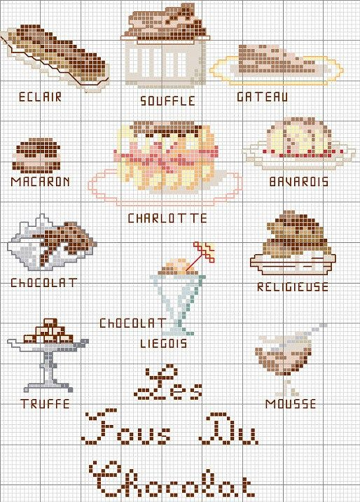 Free Pastry Cross Stitch Chart
