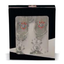 Kit de 2 taças para champagne Corinthians