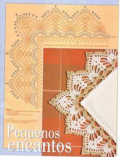 Crochê Gráfico: Barrados de crochê com canto lindos
