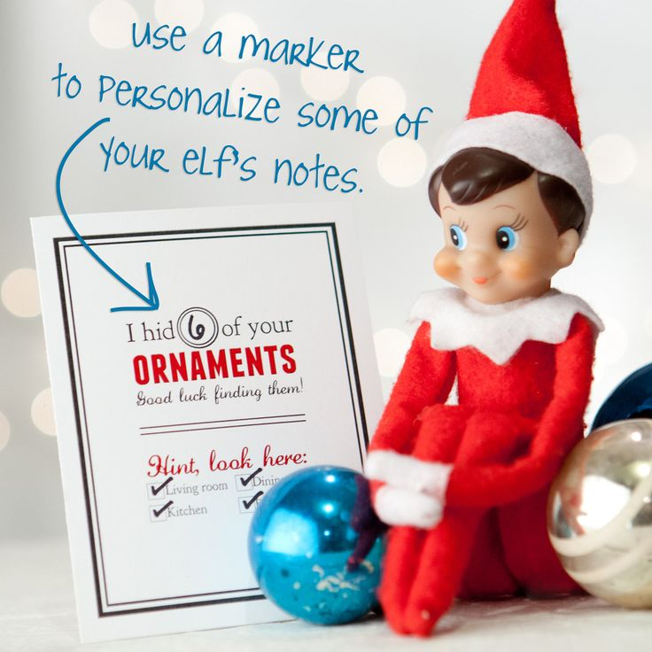 Notes From The Elf - Scavenger Hunt