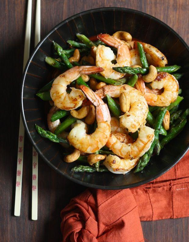 Asparagus stir fry, Asparagus and Shrimp on Pinterest
