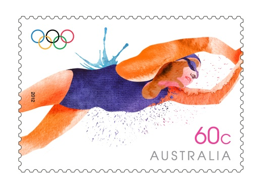 The Aussie Olympic team athletes have always been most successful in the pool, as indicated by their 168 Olympic medals, including 56 gold. Australia's first Olympic swimmer was Fredrick 'Freddy' Lane, who won two gold medals in 1900 in Paris. In the 1950s and 60s, swimmers such as Murray Rose, Dawn Fraser, Lorraine Crapp and Jon Konrads became household names. AusPost is celebrating these greats with this #London2012 release