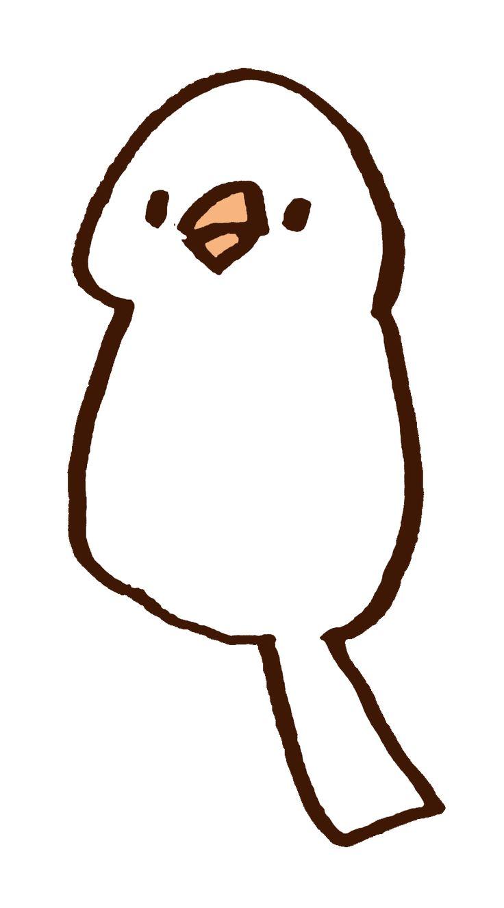 おもちのように白い文鳥ぴよー。ぼけーとしてるときの表情バージョンだよ