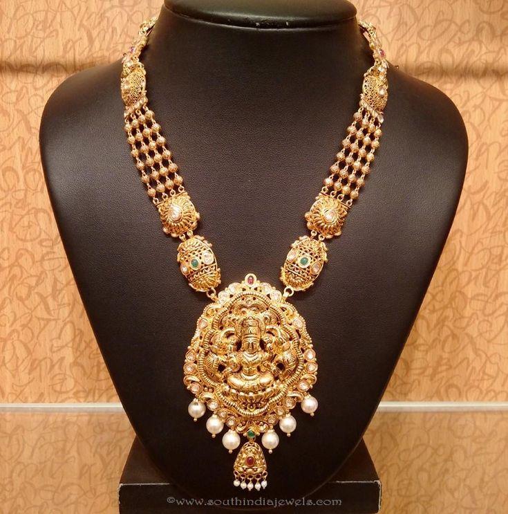 22k gold temple jewellery necklace designs, Temple Jewellery necklace collections, Temple jewellery latest model.