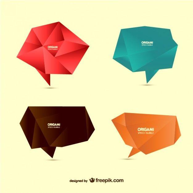 Origami polygonal speech bubbles screenshot