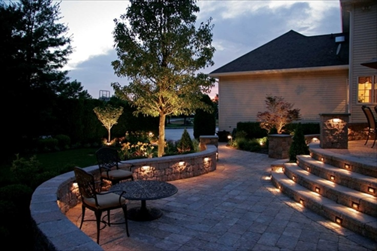 EPP6706 6 Double Sided Coventry Wall Pewter BlendPewter Blends, Outdoor Ideas, Tammy Landscapes, Nice Patios, Lit Stairs, Dreams House, Landscapes Ground, Patios Potential, Patios Lights