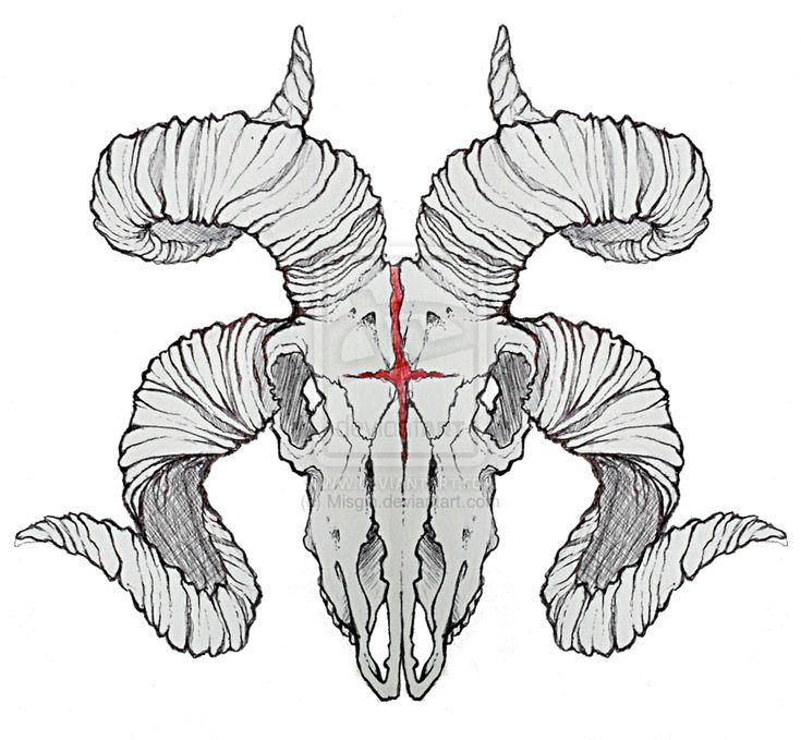 Череп козла рисунок