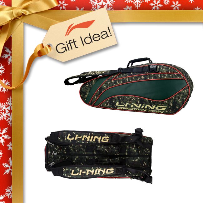 BADMINTON LOVERS GIFT IDEAS! Get them a Christmas gift they will truly LOVE this year like this Li-Ning ULTIMATE 9 racket badminton bag [ABJJ088-1] featuring 3 huge compartments, waterproof pouch and separate shoe compartment! Find it at your local USA and CANADA Dealer or here at www.shopbadmintononline.com/bags-for-badminton-c-6.html #MakeTheChange!