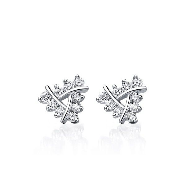 1 Carat Diamond Earrings on 10k White Gold