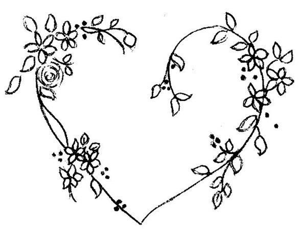 floral heart embroidery Modern but usable for a regency reticule
