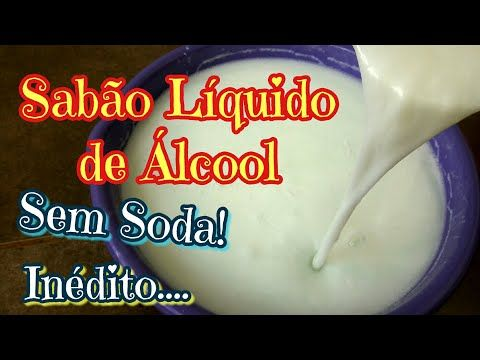 SABÃO DE ALCOOL SEM SODA LIQUIDO, COM 3 INGREDIENTES E POTENTE, FÁCIL DEMAIS! - YouTube