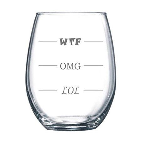 Fill 'er up!  Finally a stemless wine glass for every mood.  Wine Time Friday?  Every night!