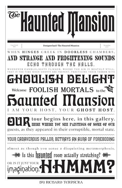 The Haunted Mansion... Would be cool for a Halloween party invitation