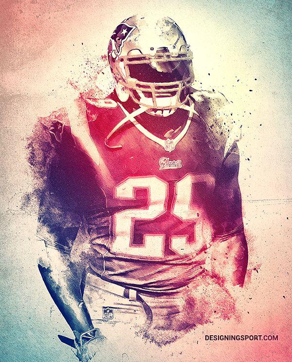 LeGarrette Blount, New England Patriots — 'True Patriots' Poster Series
