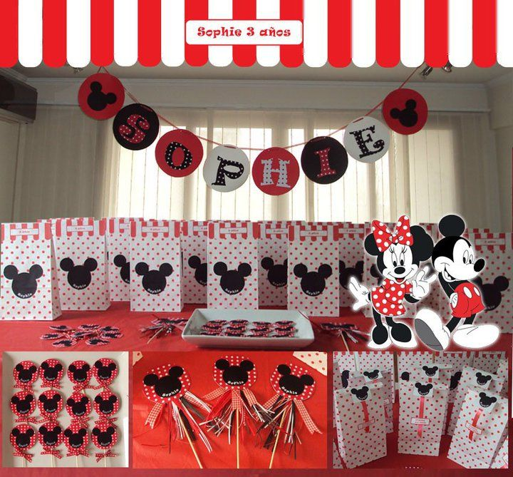 106 best images about cumple de santi on pinterest - Fiesta tematica mickey mouse ...