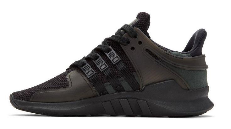 Adidas Originals Baskets noires EQT Support ADV