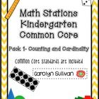 Looking for Kindergarten Math Stations for the Counting and Cardinality Common Core Standards? Look no further! This 74 page packet has 11 Math sta...