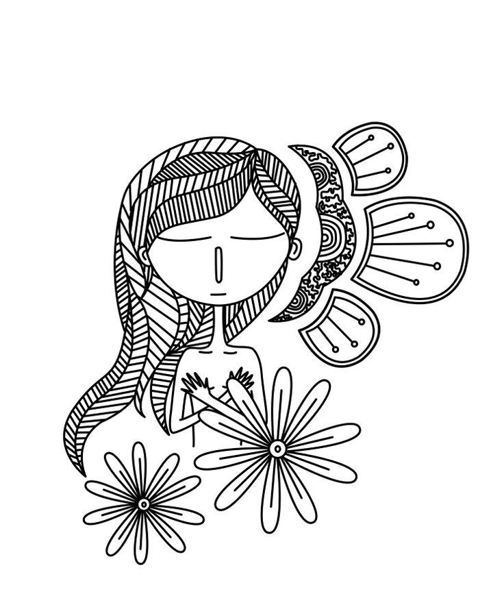Inmersa en ti #sketch #draw #steillustration #editorial #painting #design