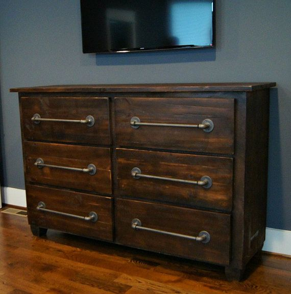 Hey, I found this really awesome Etsy listing at https://www.etsy.com/listing/223627959/six-drawer-dresser-with-industrial-pulls