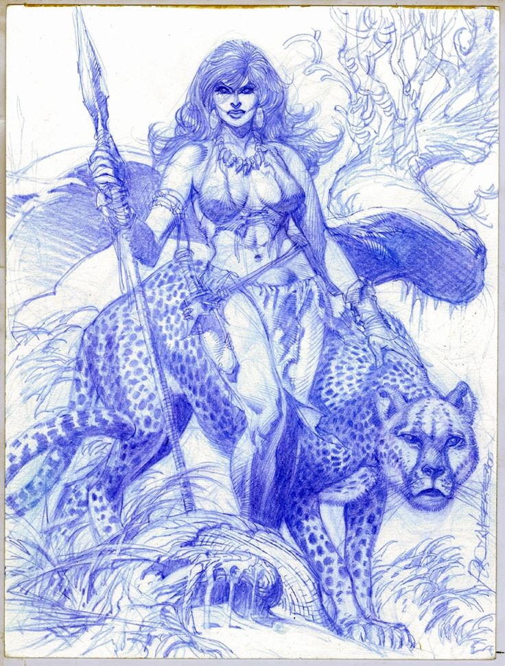 Rudy Nebres Jungle Girl  2 Comic Art