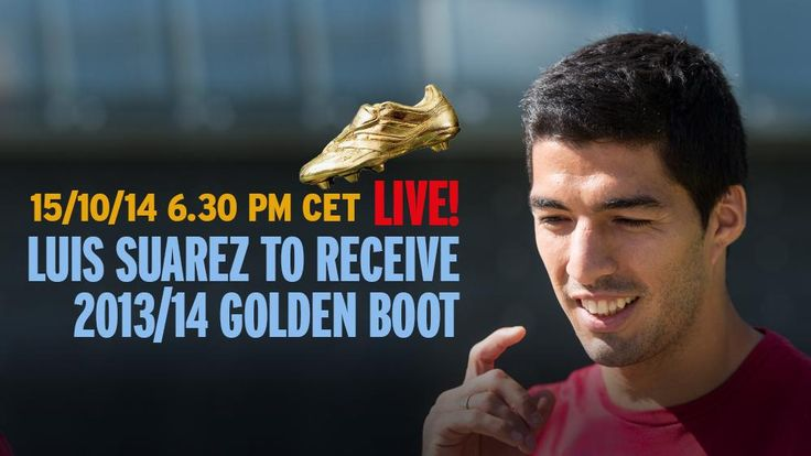 Luis Suárez to receive 2013-14 Golden Boot