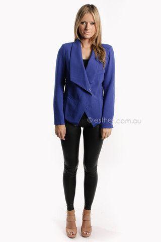 udgement blazer - blue - sale