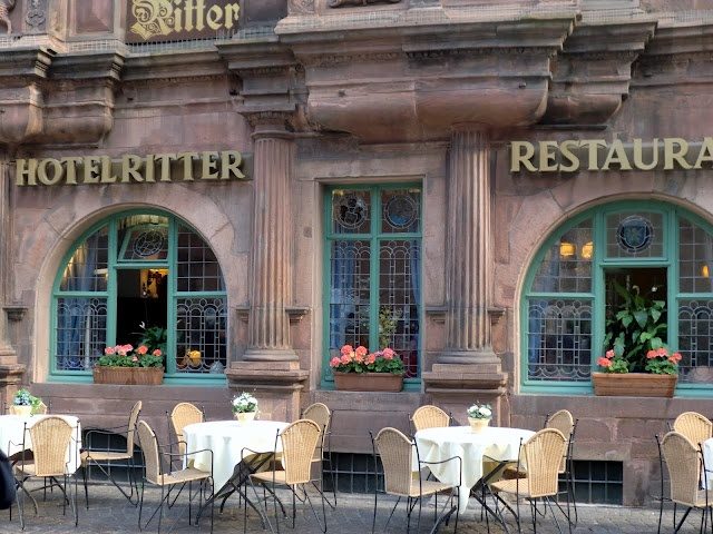 Heidelberg, Germany. Stayed in this hotel Zum Ritter, up in the attic rooms. Loved it.