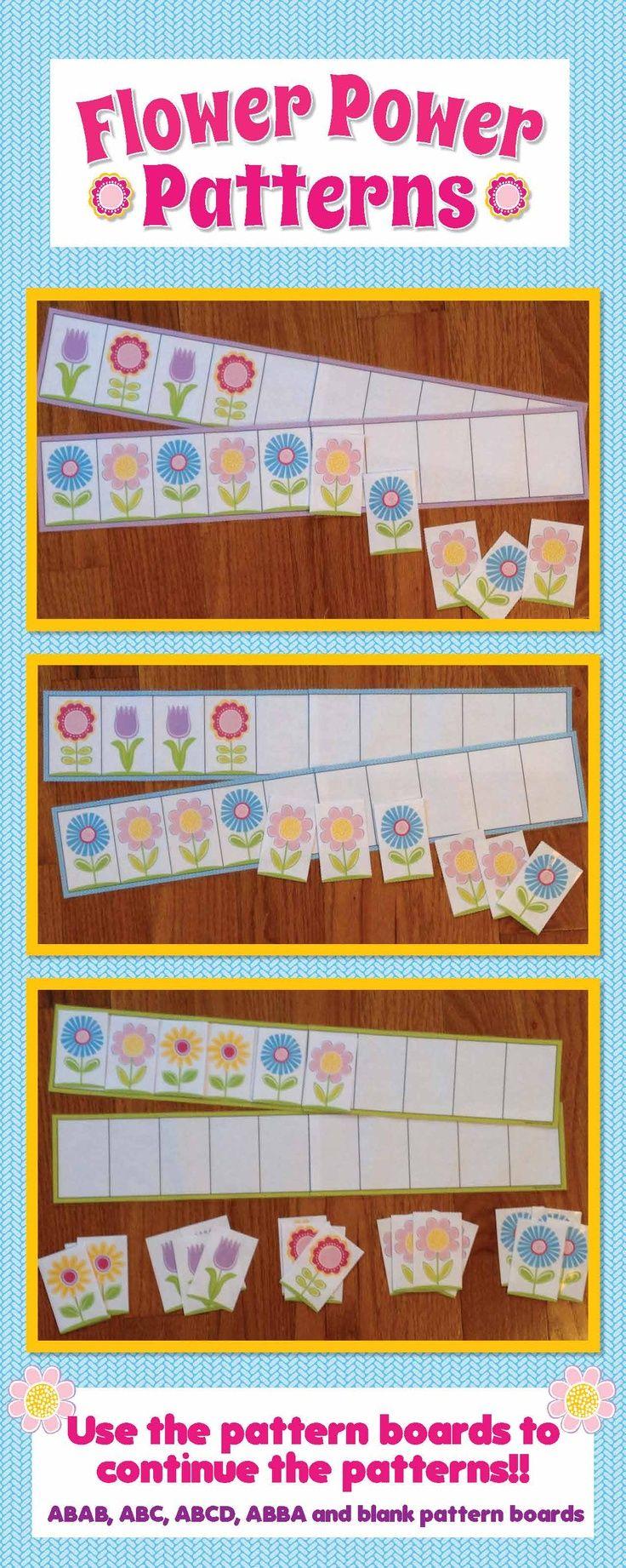 Flower Patterns for Pre-K