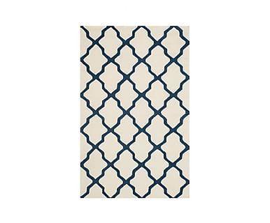 Ковер - 100% шерстяное волокно - синий, 91х152 см