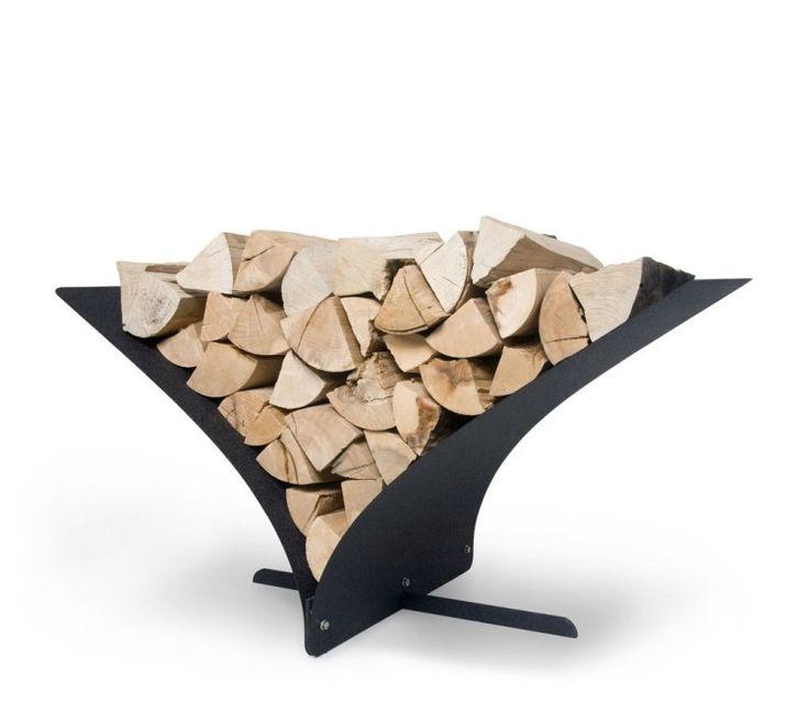 Modernes Kaminzubehör-Holzlege Memo aus gehärtetem Stahl