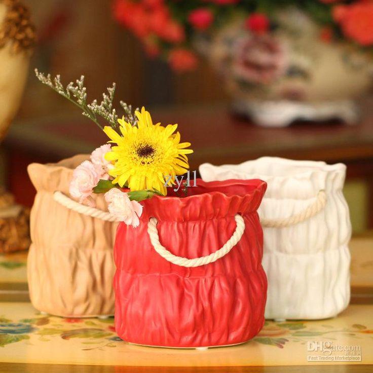 zakka бумажный мешок керамическая ваза ручки мешок мешок