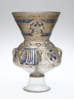 Mosque lamp, Syria, 13th-14th century, (Brooklyn Museum)