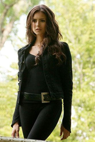 Nina Dobrev. I love her! My man says I look like Katherine when I curl my hair and Elena when I straighten it. :) Best compliment! I do look a lot like her & I dress like her.